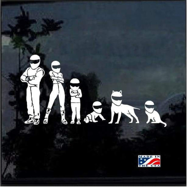 Stig family Window Decal Sticker