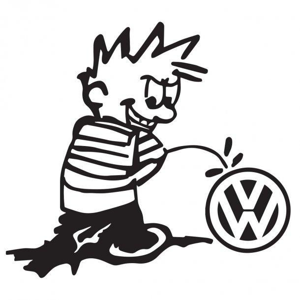 Stone Pissing On Vw Decal Sticker