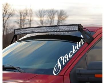 Strokin Ford Power Stroke Side Windshield Banner Decal Sticker