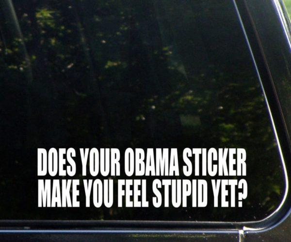 Stupid Obama Window Decal Sticker