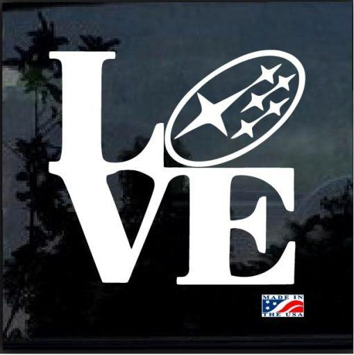 Subaru love forester impreza STI WRX BRZ Window Decal Sticker