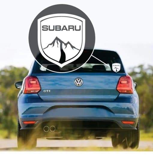 Subaru Mountain Badge Window Decal Sticker