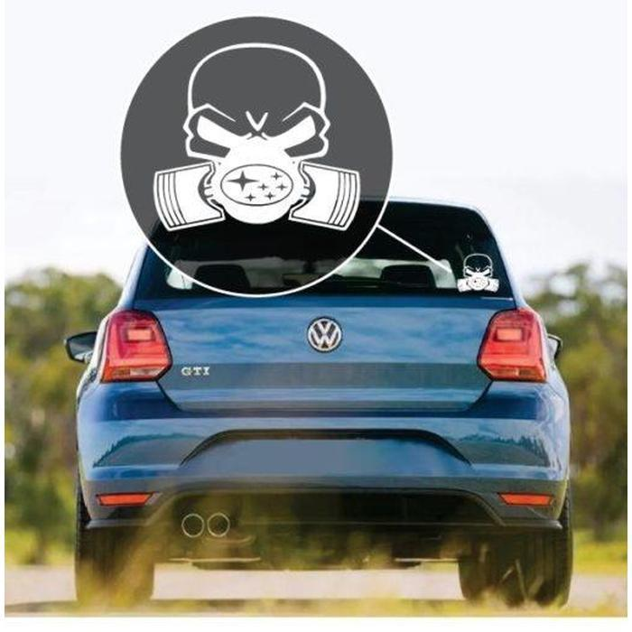 Subaru Skull Mask Window Decal Sticker
