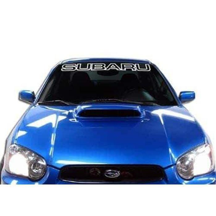 Subaru Windshield Banner Decal Sticker A2 outlined