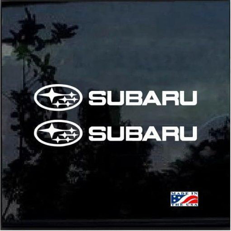 Subaru WRX STI Impreza Forester set of 2 JDM Car Window Decal Stickers