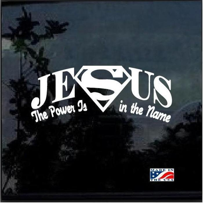 Super Jesus Christian Decal Stickers