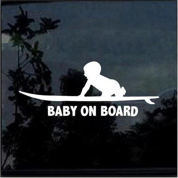 surfing surf – Baby on Board Sticker