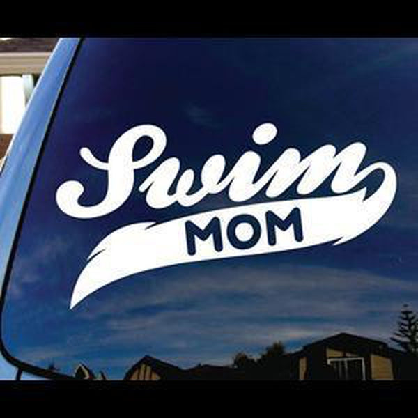 Swim Mom Window Decal Sticker A2