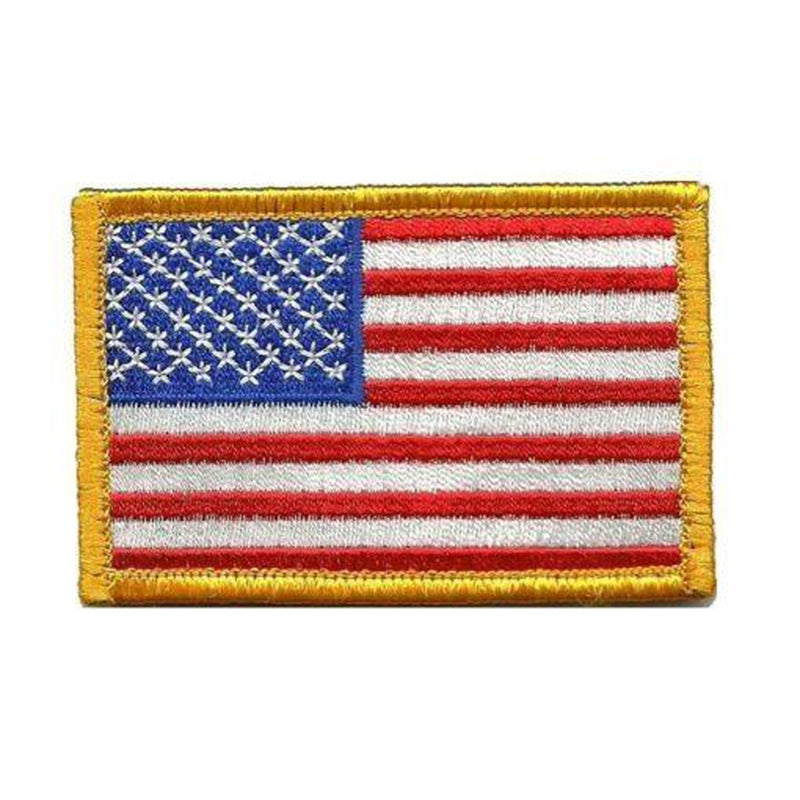 Tactical USA Flag Moral Patch – Red White & Blue Gold Trim