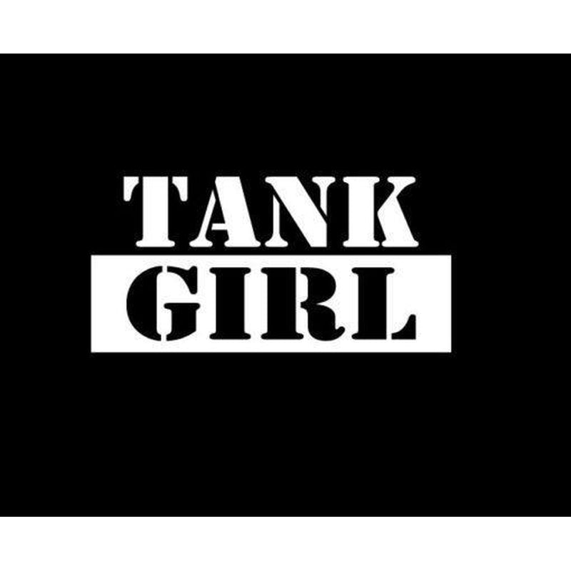 Tank Girl Military Window Decal Stickers