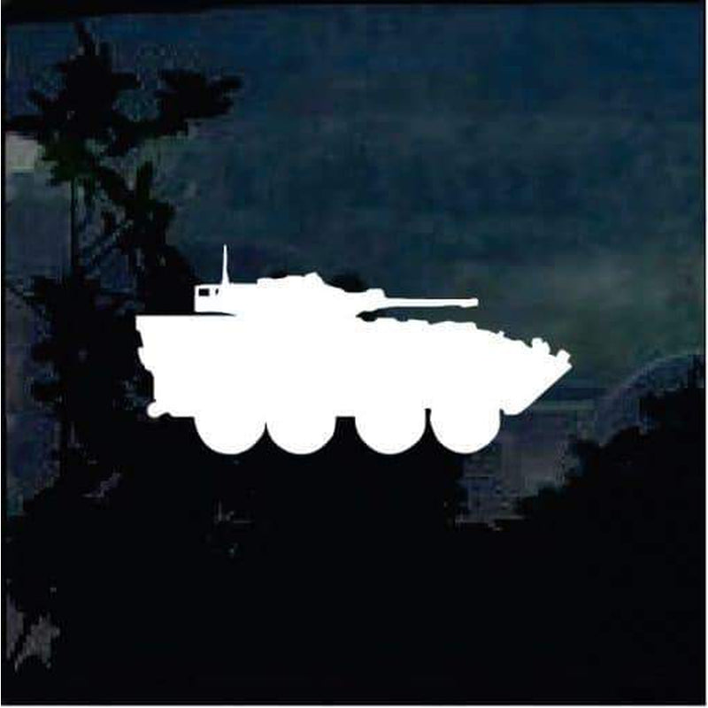 Tank Silhouette Military Window Decal Stickers A1