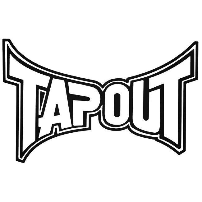 Tapout Decal Sticker