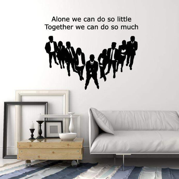 Vinyl Wall Decal Team Quote Teamwork Office Decor Inspirational Art