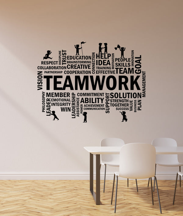 Vinyl Wall Decal Teamwork Office Space Room Team Business Success