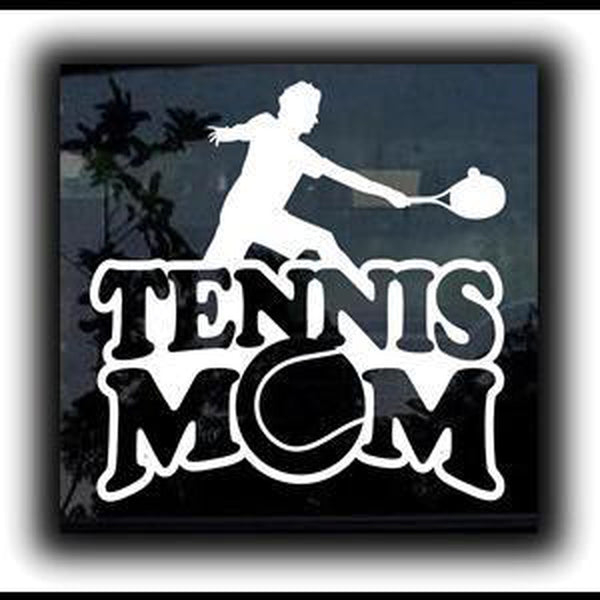 Tennis Mom Window Decal Sticker A1