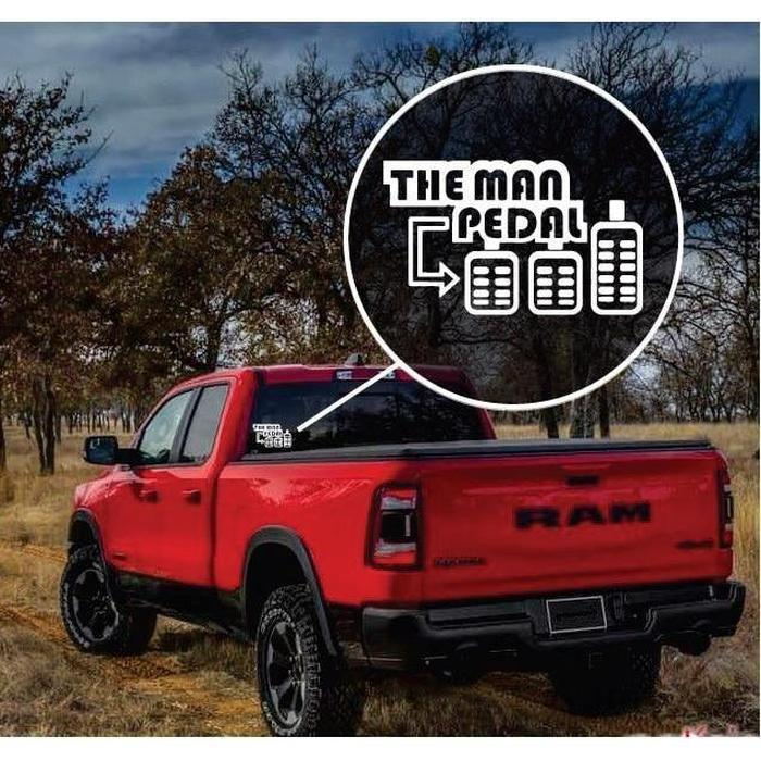The Man Pedal Truck Decal Sticker a2