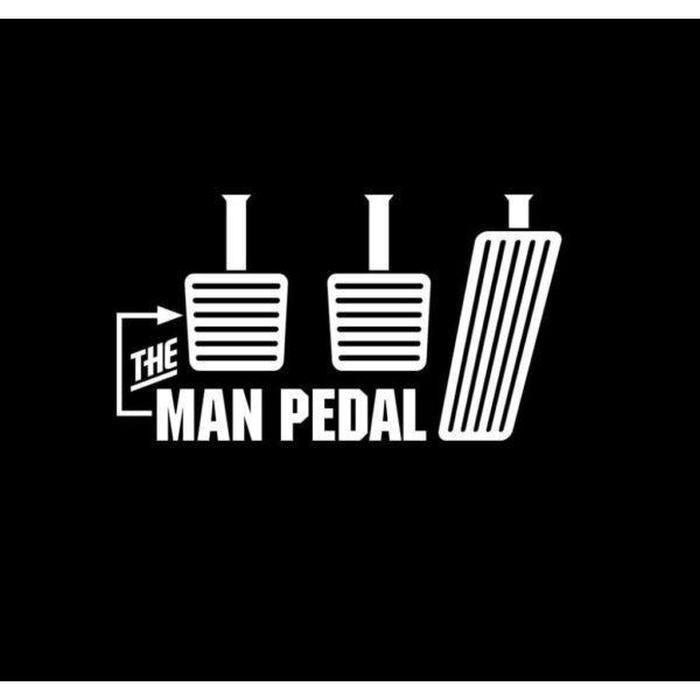 The Man Pedal Truck Decal Sticker
