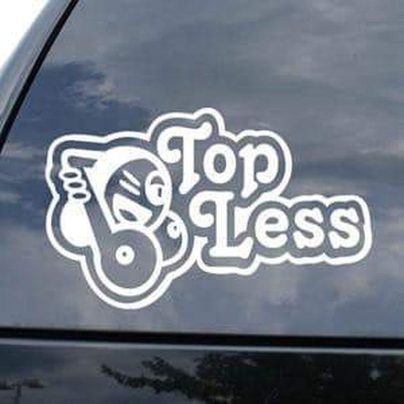 Topless Funny JDM Car Window Decal Stickers