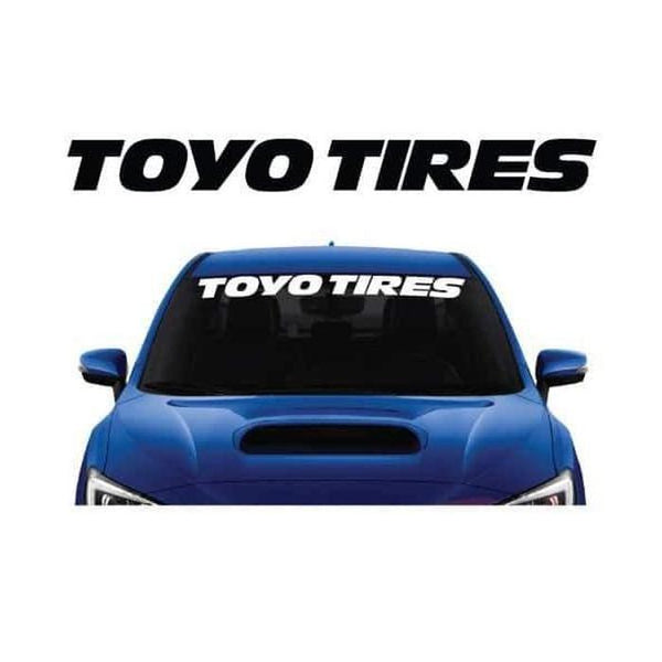 Toyo Tires Windshield Banner Decal Sticker