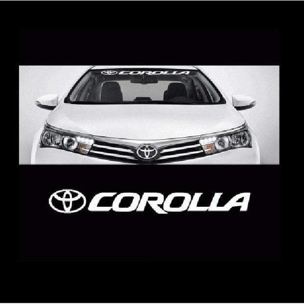 Toyota Corolla Windshield Banner Decal Sticker
