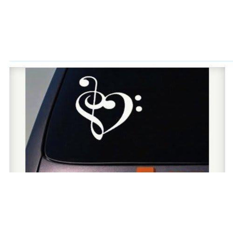 Treble Clef Heart Decal Window Decal Sticker