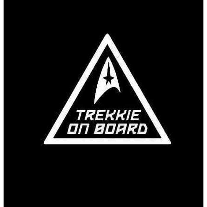 Trekkie On Board Star Trek Window Decal Sticker