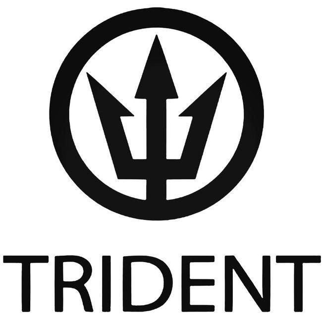 Trident Surf Brand Decal Sticker