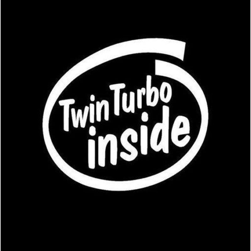 Twin Turbo Inside JDM Car Window Decal Stickers