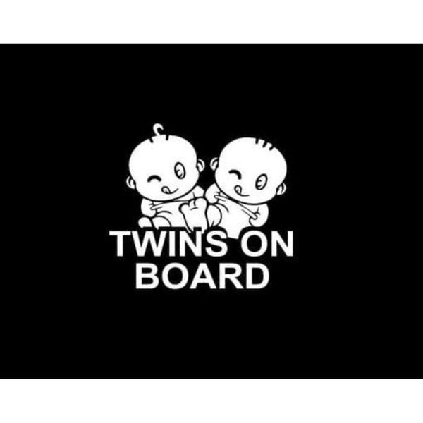 Twins on board – Baby on Board Sticker
