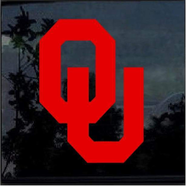 University of Oklahoma Sooners OU Window Decal Sticker