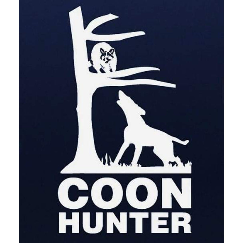 Up a Tree Coon Hunting Window Decal Sticker