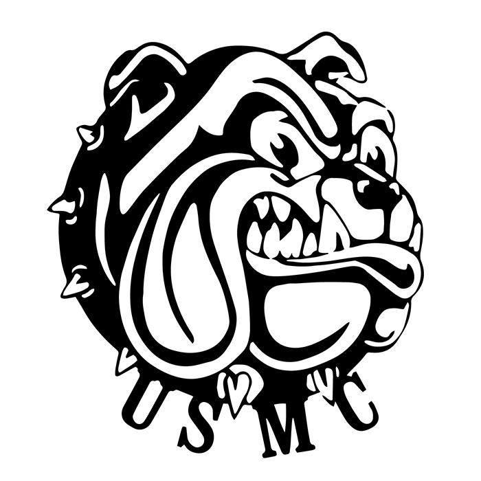 Marine Bulldog Logo Decal Sticker