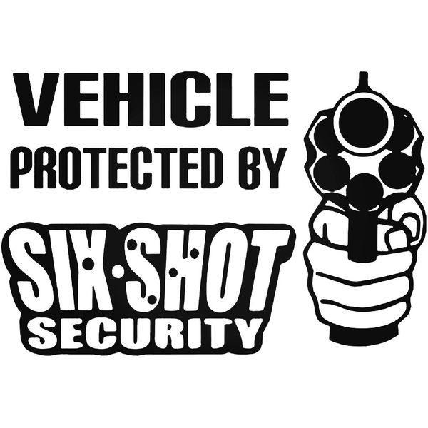 Vehicle Protected Guns Decal Sticker