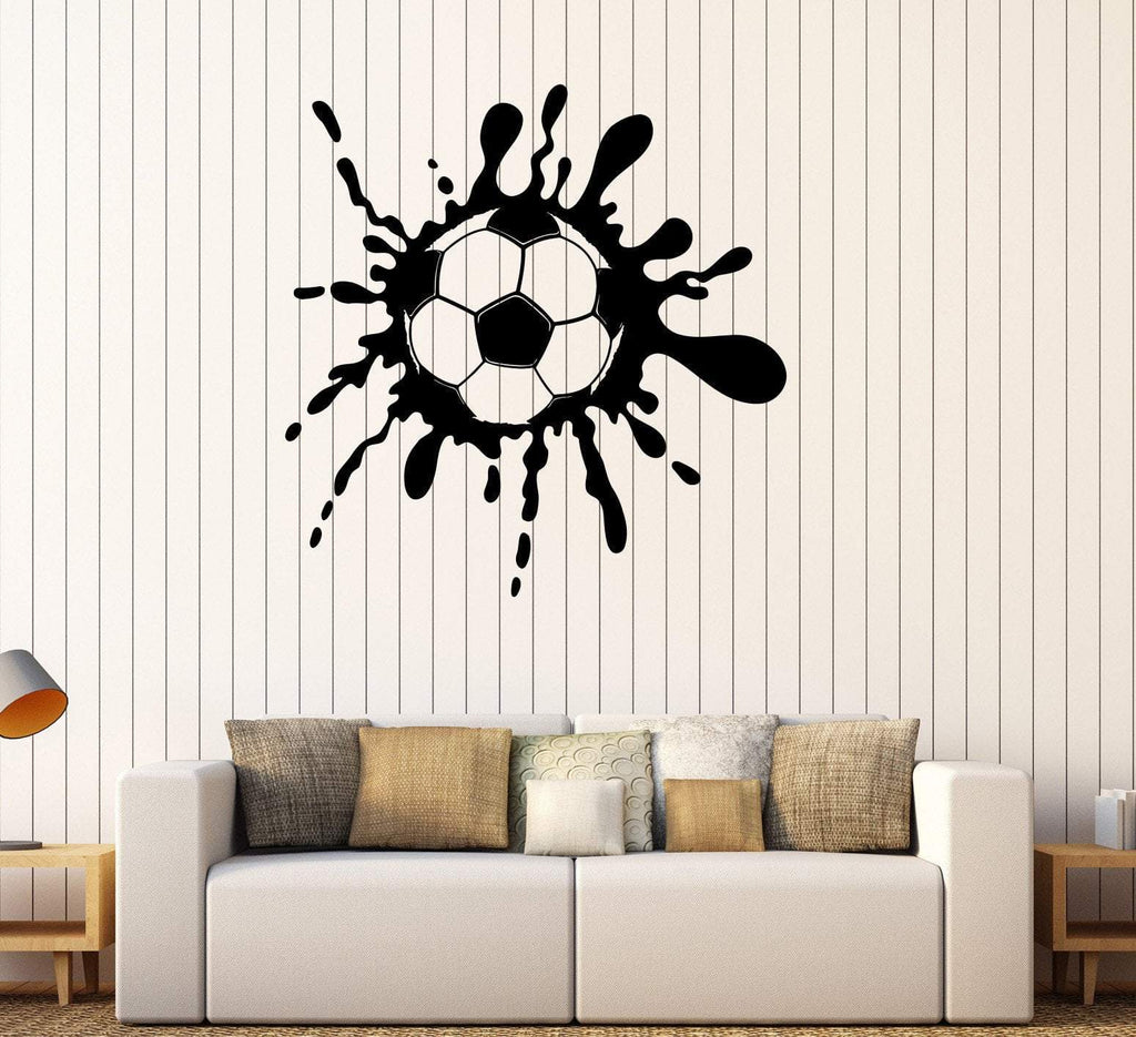 Vinyl Wall Decal Soccer Ball Teen Room Sports Decor Stickers Unique