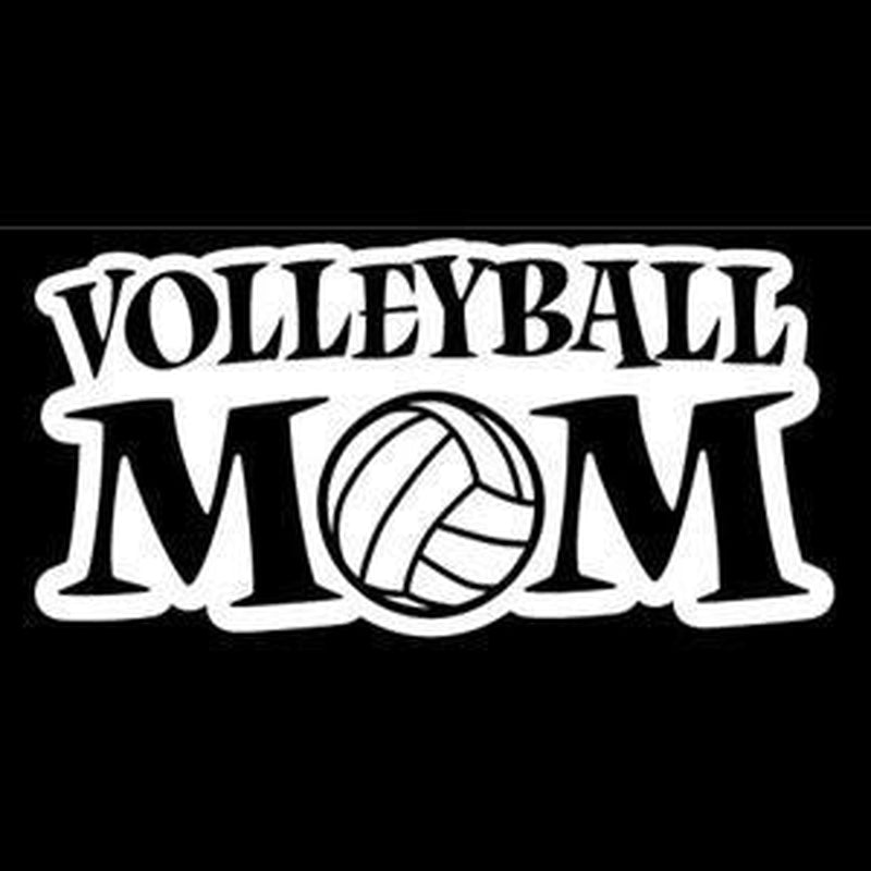 Volleyball Mom A3 Window Decal Sticker