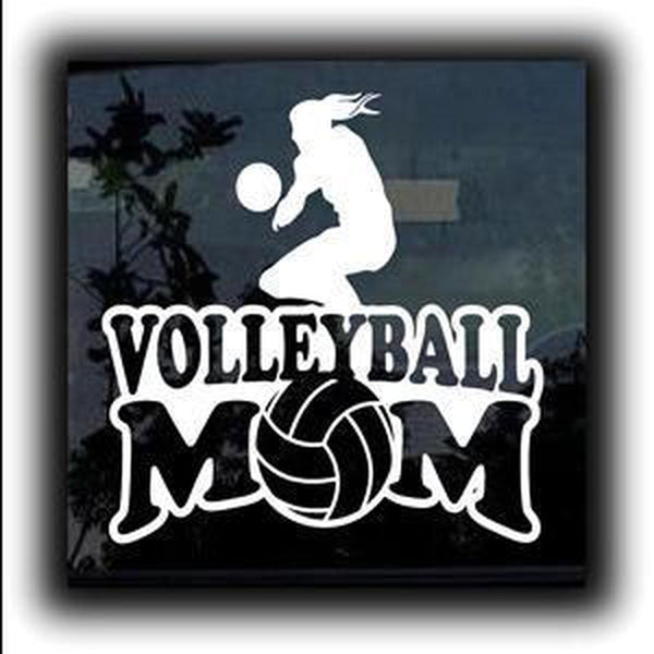 Volleyball Mom Window Decal Sticker A1