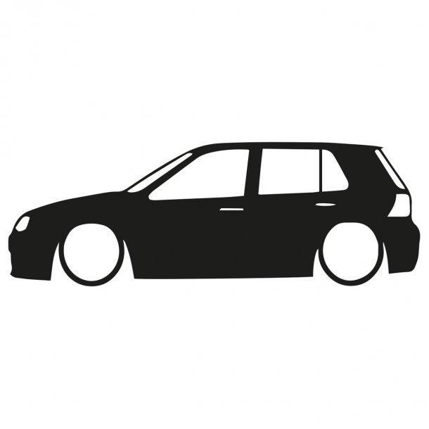 Vw Golf 4 Silhouette Decal Sticker