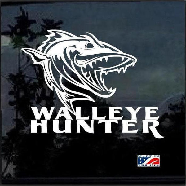 Walleye Hunter Fishing Fishing Decal Stickers