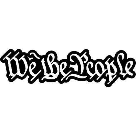 We The People Decal Sticker