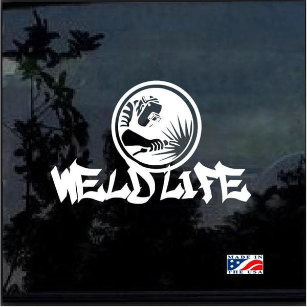 Weld Life Spark Welding Welder Decal Sticker