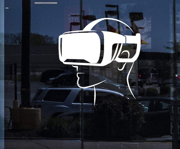Window Vinyl Wall Decal Virtual Reality Head-Mounted Display