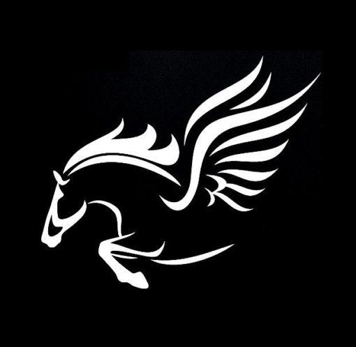 Winged Flying Horse Window Decal Stickers