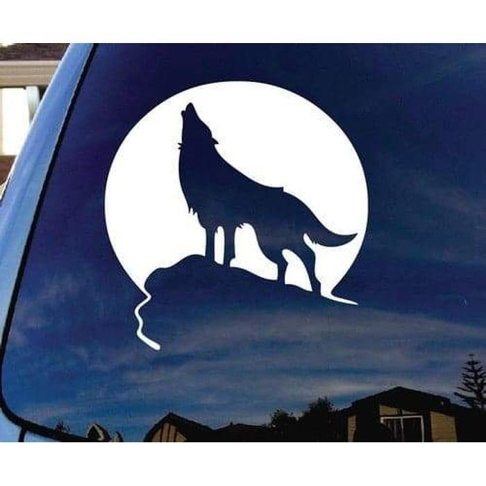 Wolf Sticker – Wolf Howling Decal