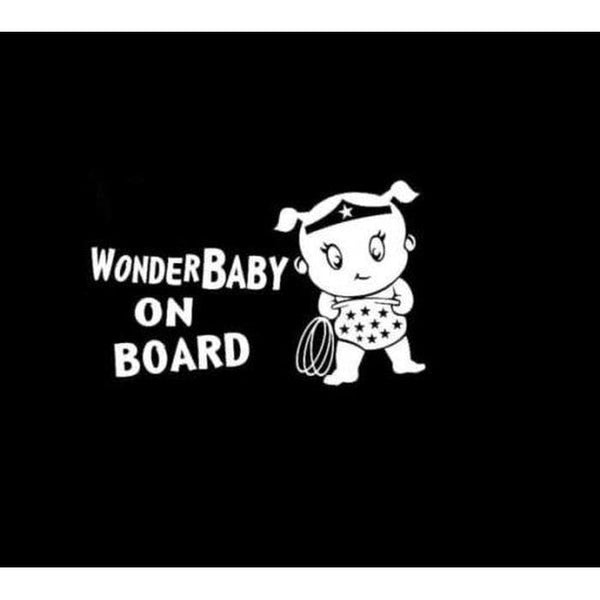 Wonder woman Baby On Board Window Decal Sticker