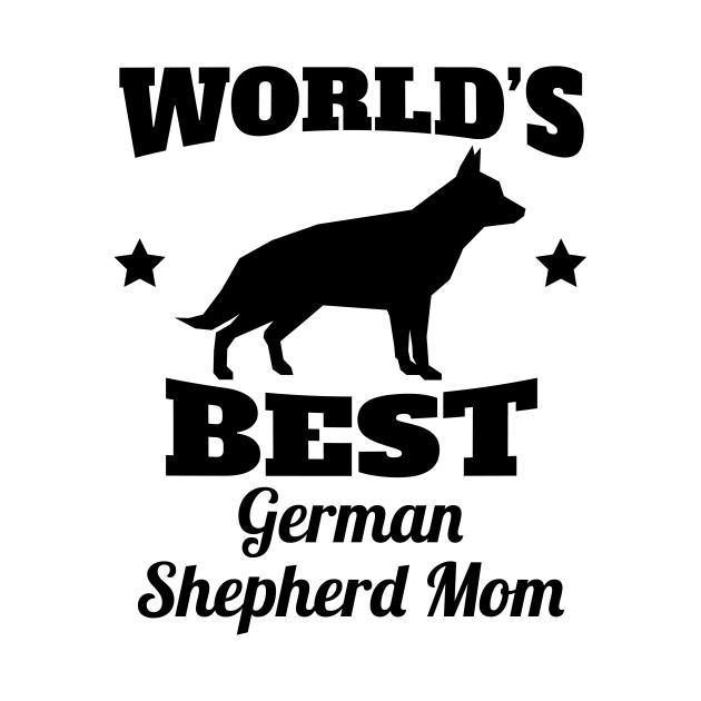 Worlds Best German Shepherd Mom Car Decal Sticker