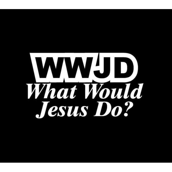 WWJD What Would Jesus Do Christian Decal Stickers