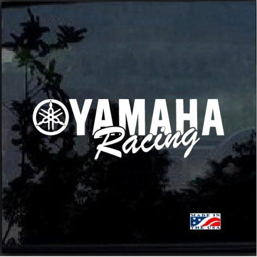 Yamaha Racing Window Decal Sticker