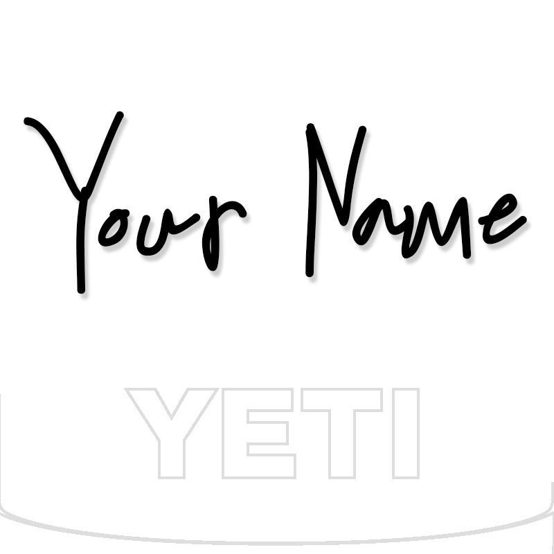 Yeti Decal Sticker Custom Name 10