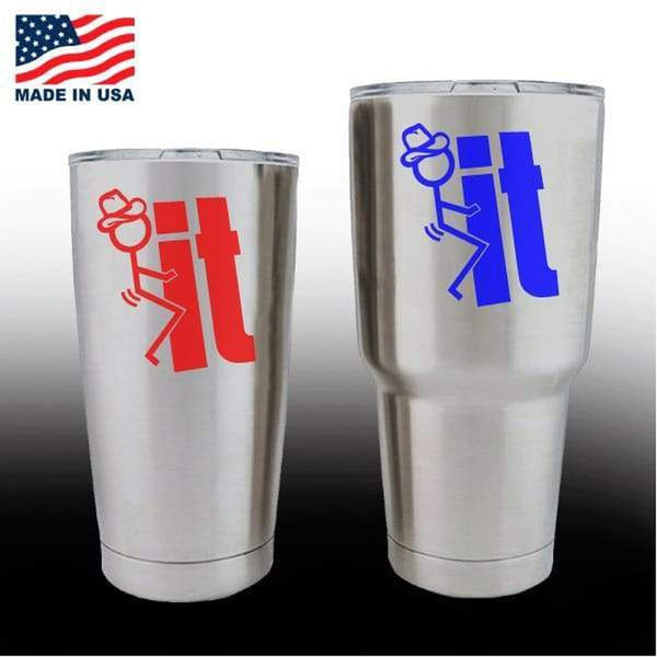 Yeti Decals – Cup Stickers – Fuck it Cowboy