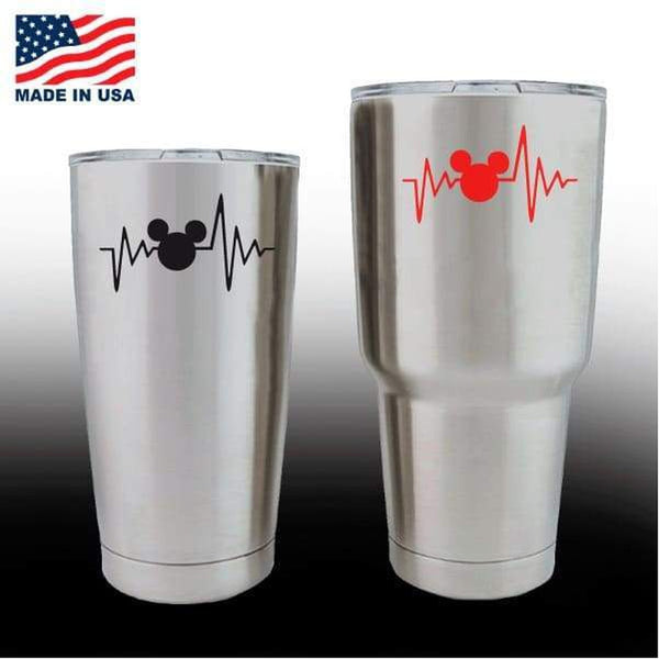 Yeti Decals – Cup Stickers – Love Mickey Mouse Heartbeat